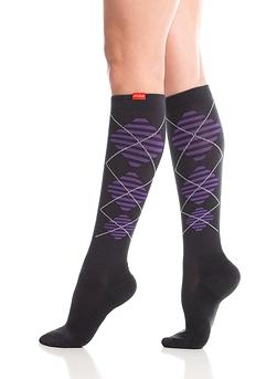 Wool / Argyle - Black & Purple