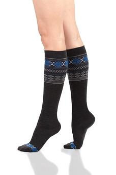 Wool / Fair Isle - Black & Blue