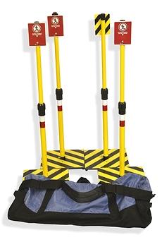 Trousse Insta-Zone 4 poteaux avec sac de base ouvert