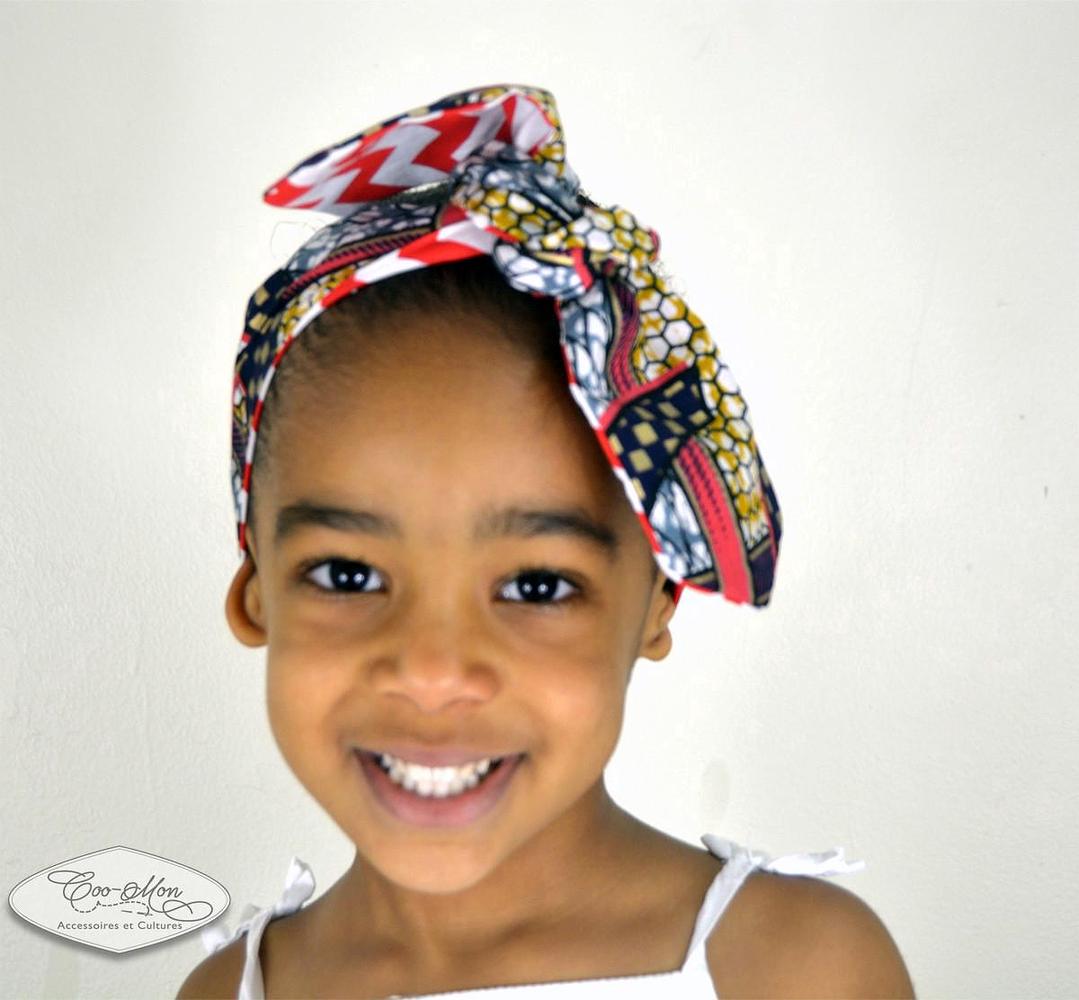 bandeau foulard turban ceinture r versible b b fille femme maman rouge fer cheval b b fille. Black Bedroom Furniture Sets. Home Design Ideas