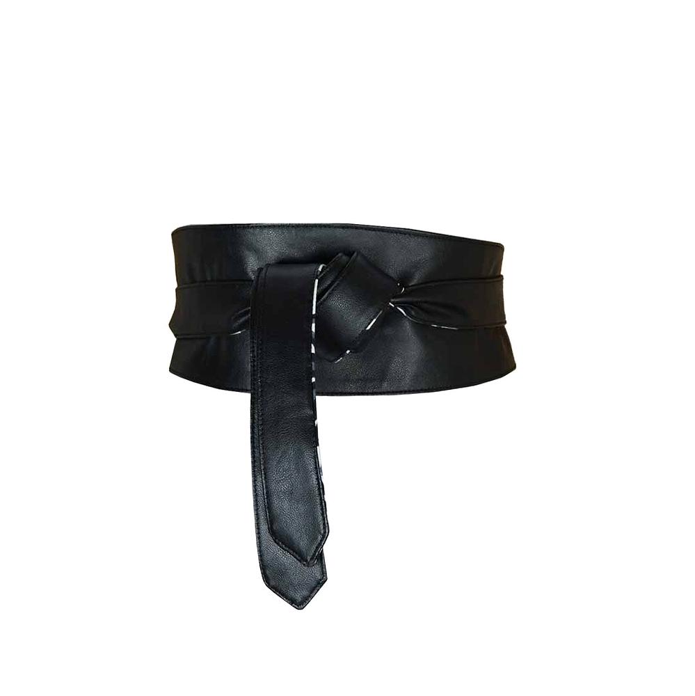 ceinture large à nouer, réversible pagne africain et faux cuir, bleu à  carreaux e76d1122dca