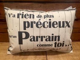 """Coussin """"Parrain/Précieux"""""""