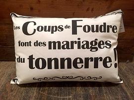"""Coussin """"Coups de foudre"""""""
