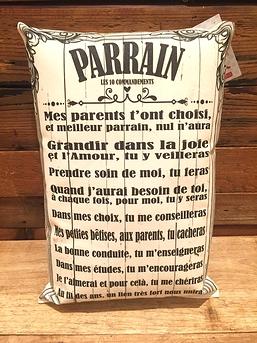 """Coussin """"Parrain"""""""