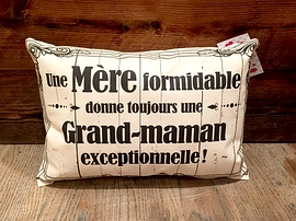 """Coussin """"Mère/Grand-maman"""""""