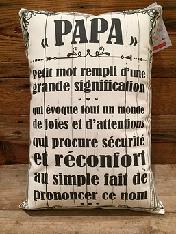 "Coussin ""Papa"""