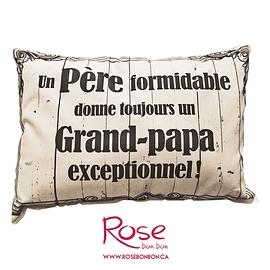 """Coussin """"Père/Grand-papa"""""""