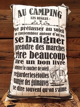 "Coussin ""Au camping"""