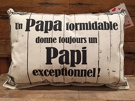 "Coussin ""Papa/Papi"""