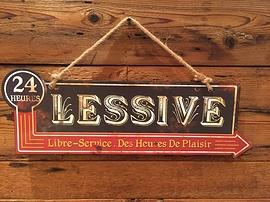 Affiche en métal ''Lessive''
