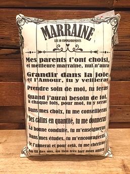 "Coussin ""Marraine"""