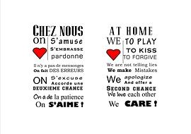 """Affiche """"Chez nous"""""""