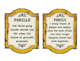 """Affiche en métal """"Famille"""""""