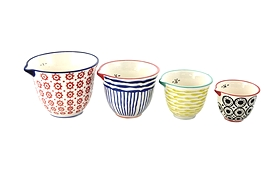 Ensemble de 4 bols à mesurer en céramique