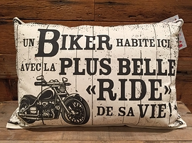 "Coussin ""Biker"""