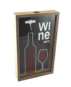 Boîte à bouchons de vin