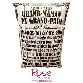 """Coussin """"Chez grand-maman et grand-papa"""""""