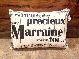 """Coussin """"Marraine/Précieux"""""""
