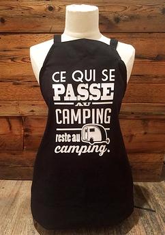 """Le tablier """"Ce qui se passe au camping"""""""