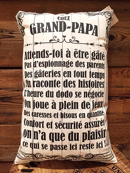 "Coussin ""Chez grand-papa"""