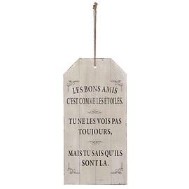 """Affiche en bois """"Les bons amis"""""""