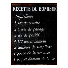 """Affiche """"Recette du bonheur"""""""