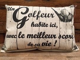 """Coussin """"Golfeur"""""""