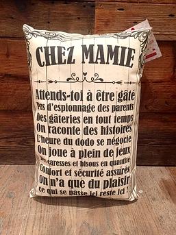 """Coussin """"Chez mamie"""""""