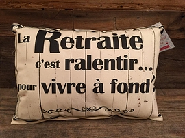 Coussin ''La retraite''