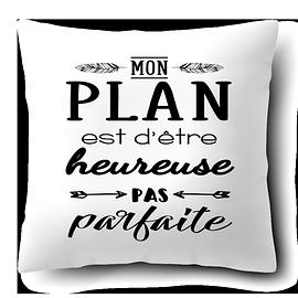"Coussin ""Mon Plan"""