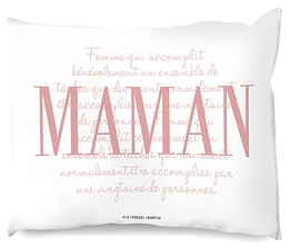 "Coussin ""Maman"" rose"