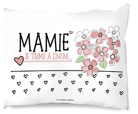 "Coussin ""Je t'aime mamie"""