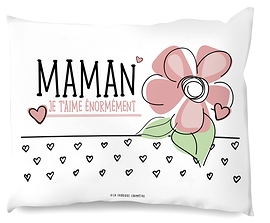 "Coussin ""je t'aime maman"""