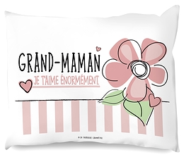 "Coussin ""Je t'aime grand-maman"""