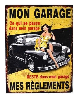 """Affichette """"Mon garage, mes règlements"""""""