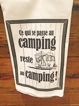 """Linge à vaisselle """"Camping"""""""