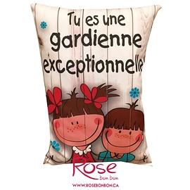 "Coussin ""Gardienne exceptionnelle"""