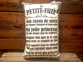 """Coussin """"Ma petite-fille"""""""