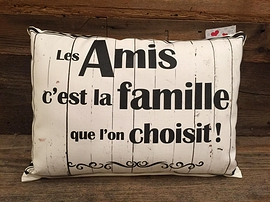 """Coussin """"Amis/Famille"""""""