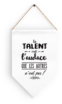 "Fanion ""Le talent"""