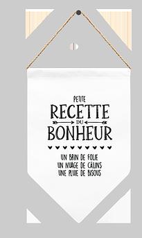 """Fanion """"Recette du bonheur"""""""