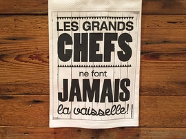 """Linge à vaisselle """"Grands chefs"""""""
