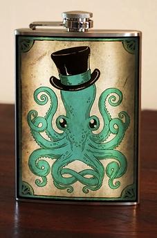 """Flasque """"Gentleman Octopus"""""""