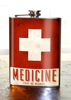 "Flasque ""Medicine Use As Needed"""