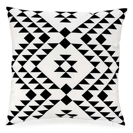 Coussin triangles noirs