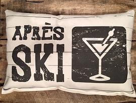 "Coussin ""Après ski"""