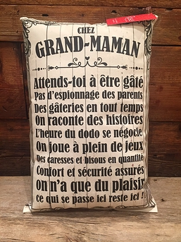 "Coussin ""Chez grand-maman"""
