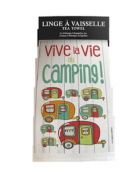 """Linge vaisselle """"Vive la vie au camping"""""""