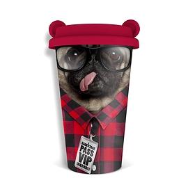 Tasse réutilisable pug