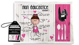 Pink educationalist placemat